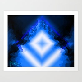 Crystals blues Art Print