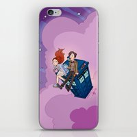 dodgers iPhone & iPod Skins featuring Jammie Dodgers Doctor Who by Aimee Steinberger