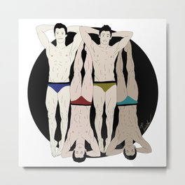 Sexy Swimmers Metal Print