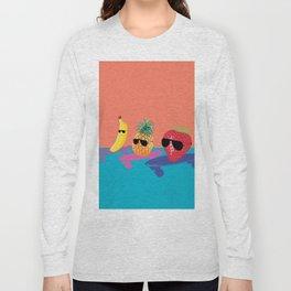 Skating Fruit Salad Long Sleeve T-shirt