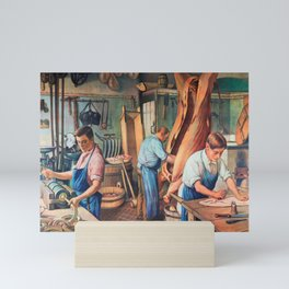 Sausage factory Mini Art Print