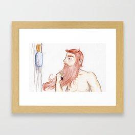 Luxurious Beard Mountain Man Framed Art Print