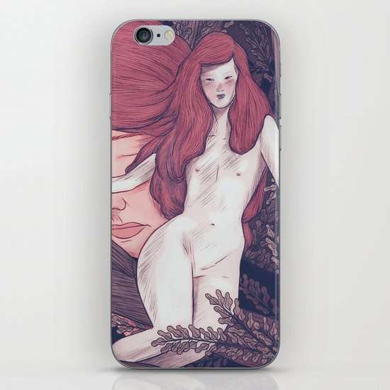 girl in the woods iPhone & iPod Skin
