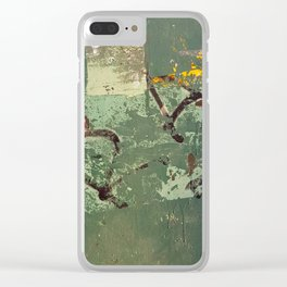 Urban Abstract in Green Clear iPhone Case