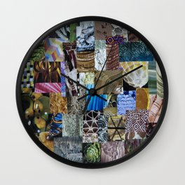 Collage - Tiled Wall Clock