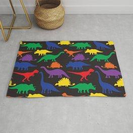 Dinosaurs - Black Rug