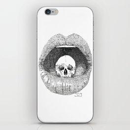skull in lips iPhone Skin