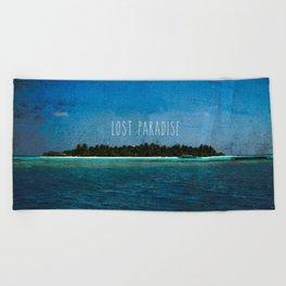 Lost Paradise Beach Towel