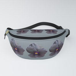 Black Viola Flower Fanny Pack