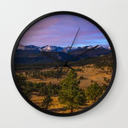 Rocky Mountain High - Moonlight Drenches Colorado Landscape Wall Clock