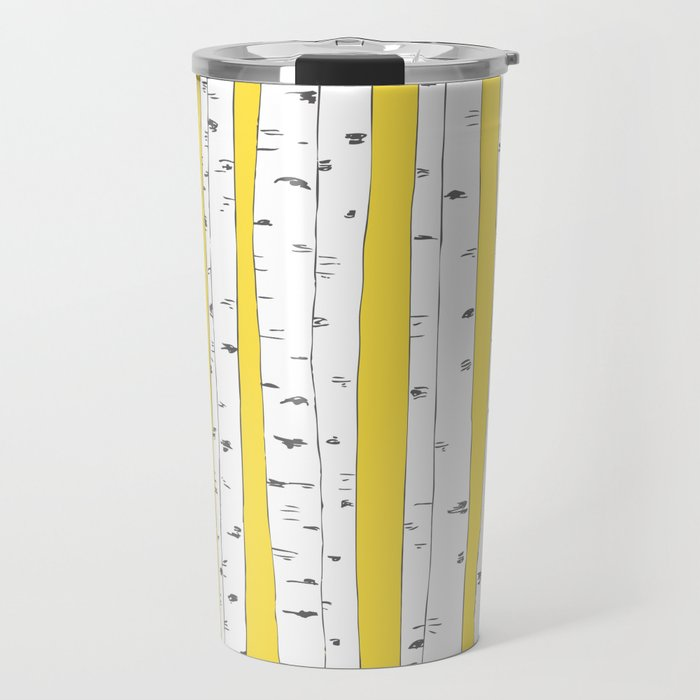 Aspen Forest - Yellow Travel Mug