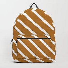 Peanut Butter Diagonal Stripes Backpack