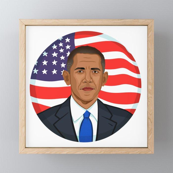 President Obama Framed Mini Art Print