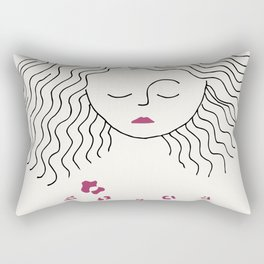 Diana waiting for spring Rectangular Pillow