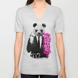 Angry Panda Unisex V-Neck