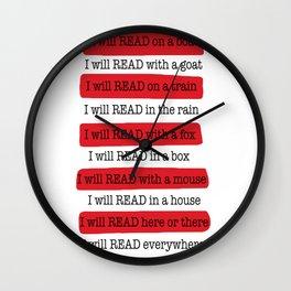 i will read hat copy Wall Clock