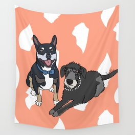 Dougie and Frankie Wall Tapestry