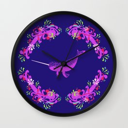 Narwhal: Unicorn of the Sea Wall Clock