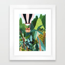 Hot Air Balloon Explorer Framed Art Print