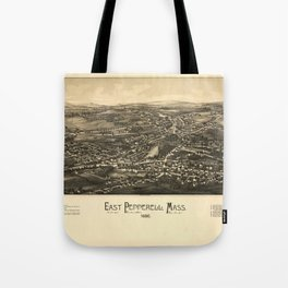 Aerial View of East Pepperell, Massachusetts (1886) Tote Bag