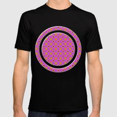 Glo-Dots! Black Mens Fitted Tee MEDIUM