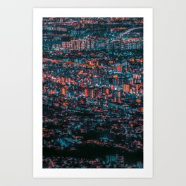 NEO JAPAN(A forest building) Art Print