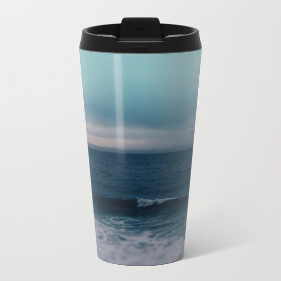 Blue California Ocean Metal Travel Mug