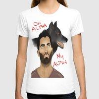derek hale T-shirts featuring Derek Hale - Oh Alpha, my Alpha by LittleMagicFox