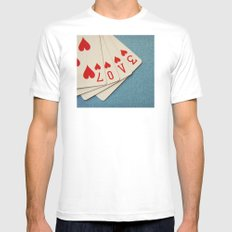 A Full House Mens Fitted Tee MEDIUM White