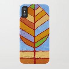 Winter Leaf iPhone X Slim Case