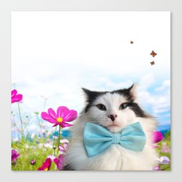 The Oreo Cat: Simply Summer Canvas Print