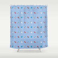 ice cream Shower Curtains featuring Ice cream by Calvin Wu