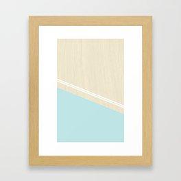 Pastel Wood II Framed Art Print