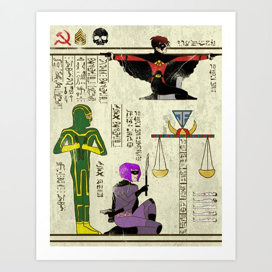 Hero-Glyphics: Kick Ass Art Print