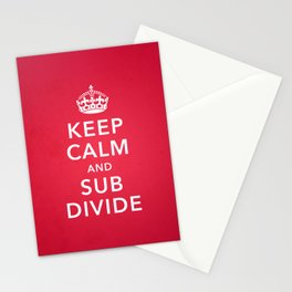 KEEP CALM AND SUBDIVIDE Stationery Cards