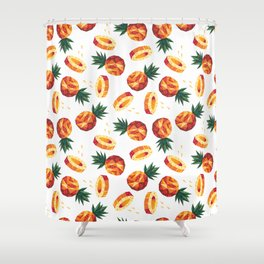 Edgy Pineapple Shower Curtain