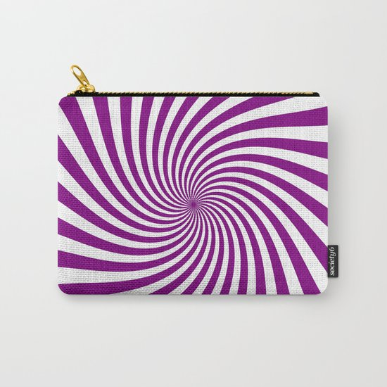 Swirl (Purple/White) Carry-All Pouch
