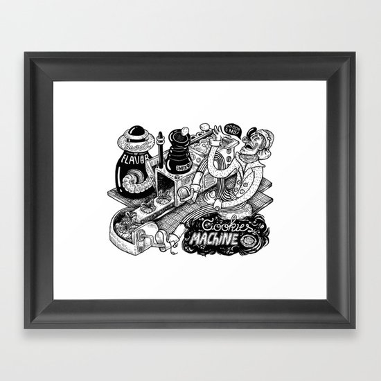 Cookies Machine Framed Art Print