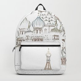 Saint Basil's Cathedral (on white) Backpack