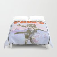 jaws Duvet Covers featuring paws / Jaws by tshirtsz