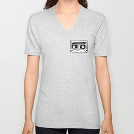 The cassette tape Unisex V-Neck