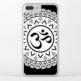 mandala om Clear iPhone Case