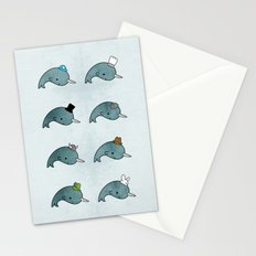 The many hats of Narwhals Stationery Cards