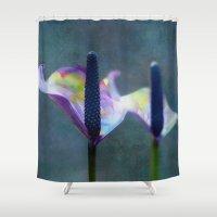 madoka magica Shower Curtains featuring Calla Magica by Klara Acel