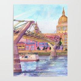 London Millenium Footbridge Poster