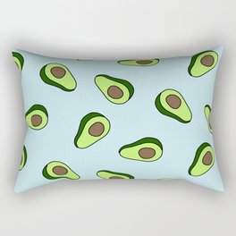 Vibrant Bright Avocado Print Rectangular Pillow