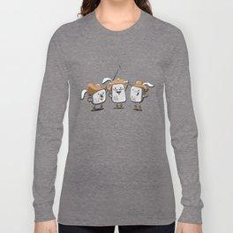 The Three Mus-key-teers Long Sleeve T-shirt