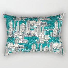 Seattle indigo teal Rectangular Pillow