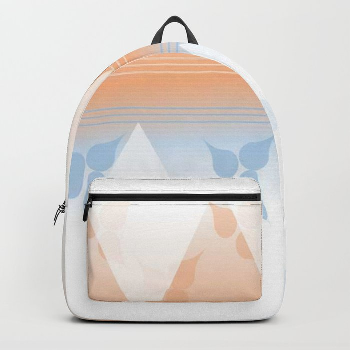 Delightful pink and blue leafs Backpack
