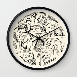 Fantastic Beasts Wall Clock